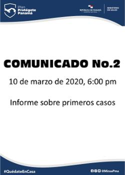 COMUNICADO 02: Informe sobre primeros casos