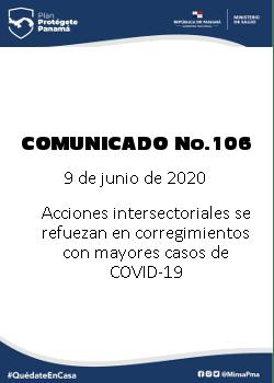 COMUNICADO 106: Acciones intersectoriales se refuerzan en corregimientos con mayores casos de COVID-19