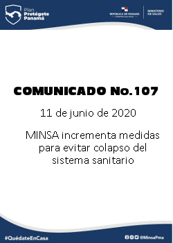 COMUNICADO 107: MINSA incrementa medidas para evitar colapso del sistema sanitario