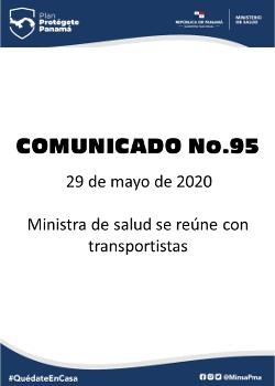 COMUNICADO 95: Ministra de salud se reúne con transportistas