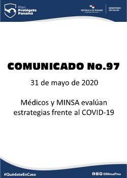 COMUNICADO 97: Médicos y MINSA evalúan estrategias frente al COVID-19