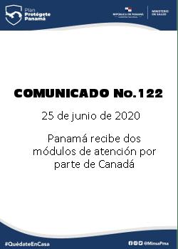 COMUNICADO 122: Panamá recibe dos módulos de atención por parte de Canadá